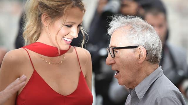 Blake Lively et Woody Allen, à Cannes le 11 mai 2016.