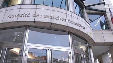 Façade de l'Autorité des Marchés Financiers (AMF), à Paris.