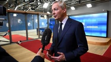 Bruno Le Maire, à son arrivé à l'Ecofin, à Bruxelles, ce mardi 12 février.