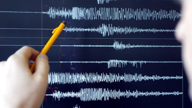 Des relevés sismiques - Image d'illustration
