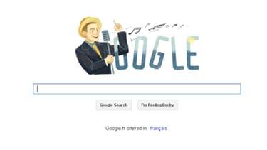 Le doodle du jour de Google est consacré au chanteur Charles Trénet.
