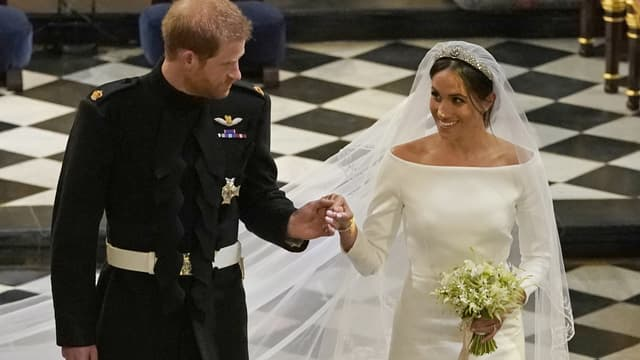 Le prince Harry et Meghan Markle lors de leur mariage le 19 mai 2018
