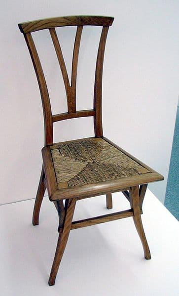 Chaise designée par Van de Velde en 1895.