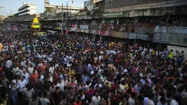 Un rassemblement de pèlerins hindous à Dacca, le 13 juillet 2010