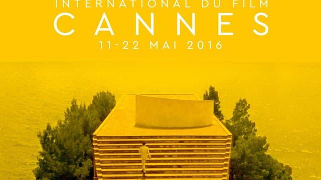 """L'affiche du prochain festival de Cannes, hommage au """"Mépris"""", de Godard."""