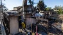 Une maison qui a brûlé à Viento Way en Californie.