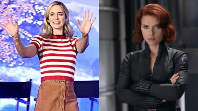Emily Blunt / Scarlett Johansson dans la peau de Black Widow