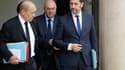 Jean-Yves Le Drian et Christophe Castaner à la sortie du conseil des ministres le 25 octobre 2017.