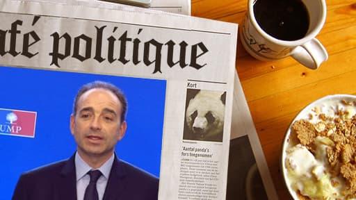 """Le président de l'UMP Jean-François Copé, invité de l'émission """"Des paroles et des actes"""" le 10 octobre 2013."""