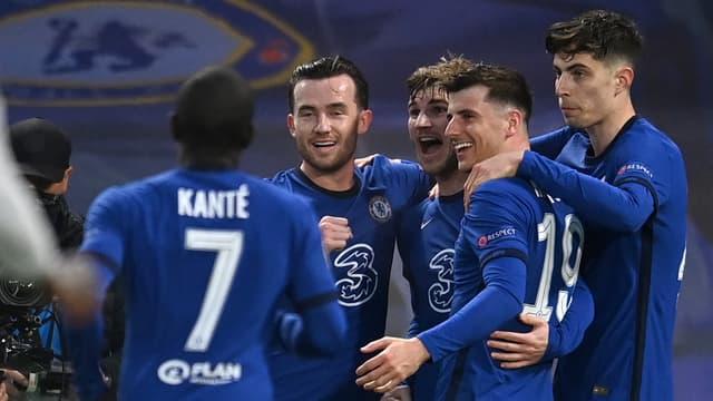 La joie des joueurs de Chelsea, à Londres le 6 mai 2021