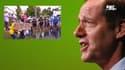 """Tour de France : Prudhomme demande de la clémence pour la """"spectatrice à la pancarte"""""""