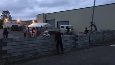 Une photo remise par le Collectif Séméac opposé à l'installation de migrants dans un hôtel de la ville