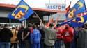 Les salariés d'Alstom manifestent ce mardi.