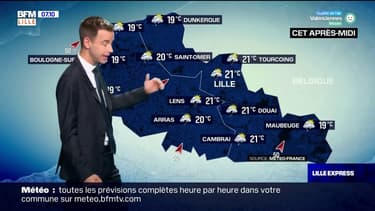 Météo Nord-Pas-de-Calais: un peu de soleil mais un temps surtout pluvieux et orageux
