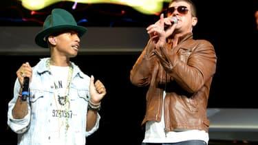 Pharrell Williams et Robin Thicke en juin 2014 en Arkansas.