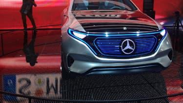Le concept Mercedes EQ, présenté lors du Mondial de l'automobile de Paris, préfigure les prochains modèles 100% électriques de la marque à l'étoile. (image d'illustration)