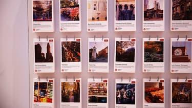 Un panneau publicitaire de Pinterest à New York.