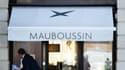La boutique de Mauboussin, l'un des grands noms de la haute joaillerie française, située Place Vendôme à Paris