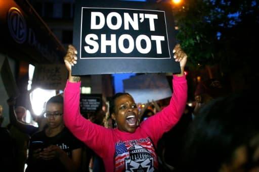 """Manifestation de soutien au mouvement """"Black lives matter"""", le 9 juillet 2016 à New York"""