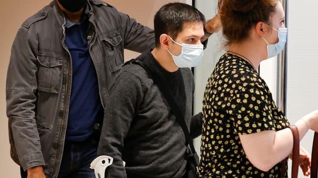 Simon Fieschi, lors du procès des attentats de janvier 2015, le 9 septembre 2020 à Paris.