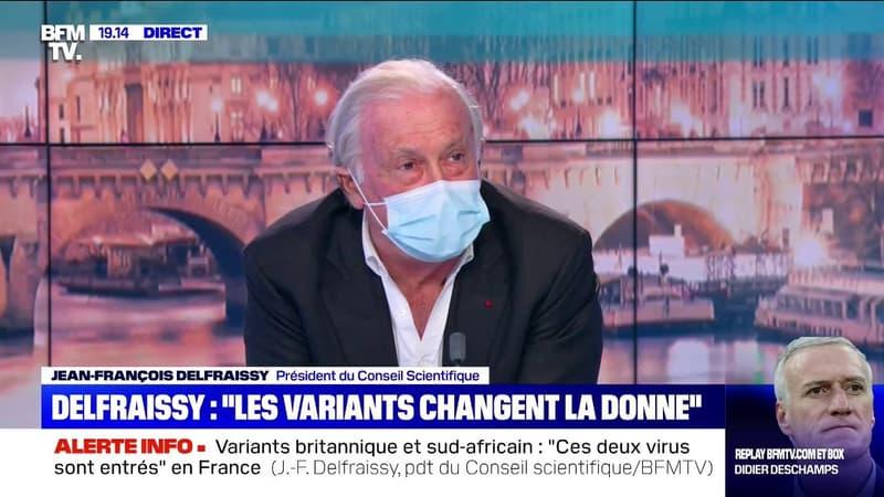"""Jean-François Delfraissy: """"Ces variants sont l'équivalent d'une deuxième pandémie"""""""