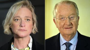 Delphine Boel et l'ancien roi des Belges Albert II