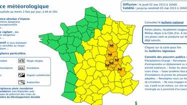 Six départements ont été placés en vigilance orange pluie et inondations pour 24 heures.