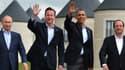 Depuis 2012, la France a rallié la doctrine britannique qui consiste à ne plus payer de rançons. De gauche à droite, quatre dirigeants du G8: Vladimir Poutine, David Cameron, Barack Obama et François Hollande.