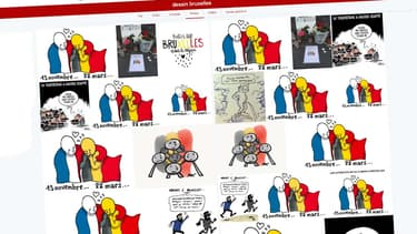 De nombreux dessins sont partagés sur les réseaux sociaux, preuve de l'émotion suscitée par ces attaques terroristes à Bruxelles.