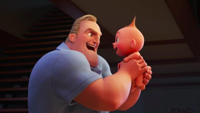 Monsieur Indestructible et son fils, le petit Jack-Jack.