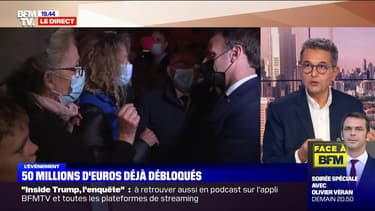 Emmanuel Macron face à la douleur des sinistrés (3/4) - 07/10