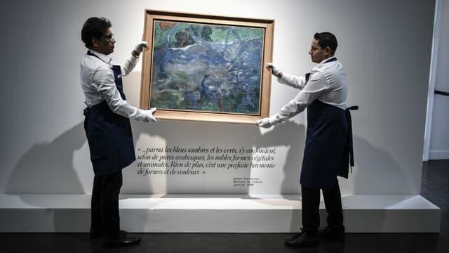"La toile de Paul Gauguin ""Te Bourao II""."