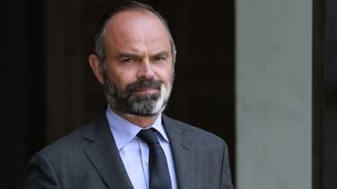 Edouard Philippe dans la cour de l'Elysée, le 10 juin 2020
