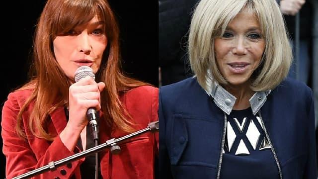 Carla Bruni et Brigitte Macron, ex et nouvelle Première dame