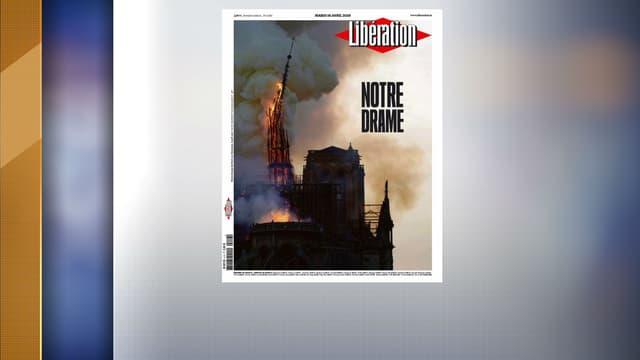 Les unes de la presse après l'incendie de Notre-Dame de Paris.