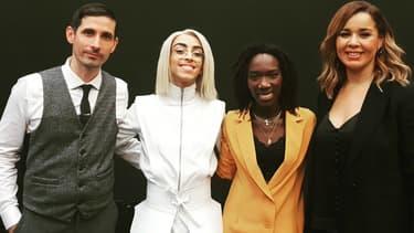 """Silvan Areg, Bilal Hassani, Aysat et Chimène Badi, les premiers qualifiés pour la finale de """"Destination Eurovision""""."""