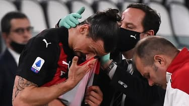 Zlatan Ibrahimovic est sorti sur blessure lors de Juve-AC Milan
