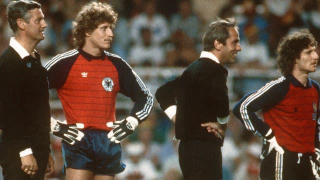 Harald Schumacher lors de la demi-finale contre la France à Séville, en 1982