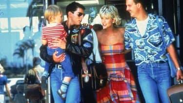 "Tom Cruise, Meg Ryan, et Anthony Ewards dans ""Top Gun"" en 1986."