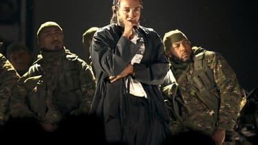 Kendrick Lamar, lors de la cérémonie des Grammy Awards, le 28 janvier 2018, à New York.