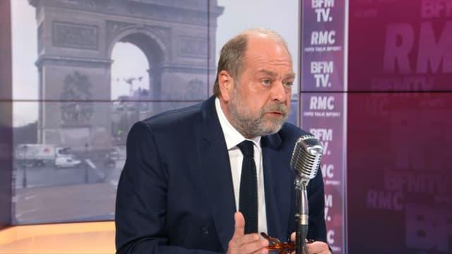 Le ministre de la Justice Eric Dupond-Moretti était l'invité de Jean-Jacques Bourdin le 15 mars 2021 sur BFMTV/RMC.