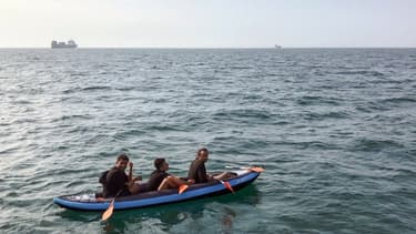 Des migrants qui traversent la Manche  (Photo d'illustration)