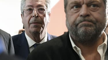 L'avocat Eric Dupont-Moretti et le maire de Levallois-Perret Patrick Balkany