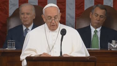 Le Pape François au Congrès américain, le 24 septembre 2015.