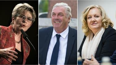 S'affrontent pour prendre la tête de la région Bourgogne Franche-Comté: Marie-Guite Dufay, pour le PS, François Sauvadet, à la tête d'une liste LR-UDI-MoDem et Sophie Montel, du Front national.