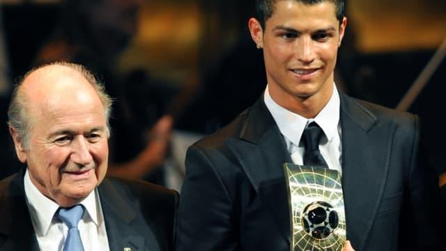 Sepp Blatter et Cristiano Ronaldo