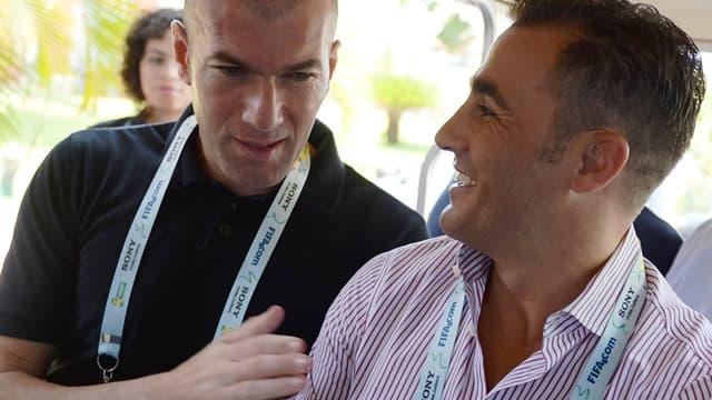 Zinedine Zidane et Fabio Cannavaro
