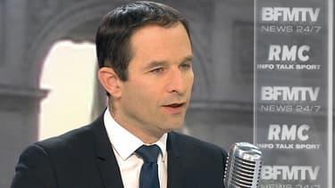 Benoît Hamon mercredi sur BFMTV et RMC.