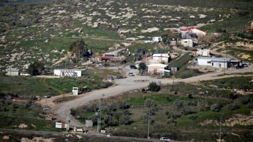 Vue de la colonie Havat Gilat, le 2 février 2018, en Cisjordanie occupée