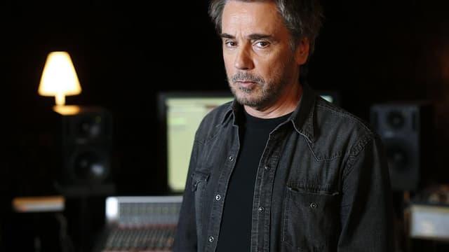 Jean-Michel Jarre en studio à Bougival, en septembre 2015.